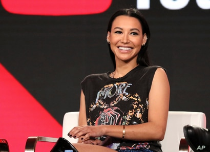 "FILE - Actress Naya Rivera participates in the ""Step Up: High Water"" panel during the YouTube Television Critics Association Winter Press Tour in Pasadena, California, Jan. 13, 2018."