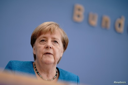 German Chancellor Angela Merkel holds her annual summer news conference during the outbreak of the coronavirus disease (COVID…
