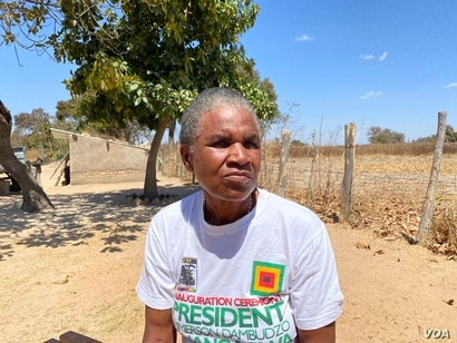 Sixty-three year old Emilliana Duri, a former Zimbabwean soldier,  hopes the government's repossession of land will not affect her new place in Mazowe district Sep. 5, 2020. (VOA/Columbus Mavhunga)