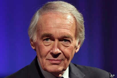 U.S. Sen. Ed Markey, D-Mass., after a debate with primary challenger, U.S. Rep. Joe Kennedy III, D-Mass., at the studio of WGBH…