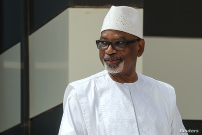 FILE PHOTO: Mali President Ibrahim Boubacar Keita poses for a picture during the G5 Sahel summit in Nouakchott,