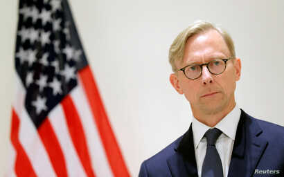 Brian Hook, U.S. Special Representative for Iran, attends a news conference in London, Britain June 28, 2019. REUTERS/Simon…