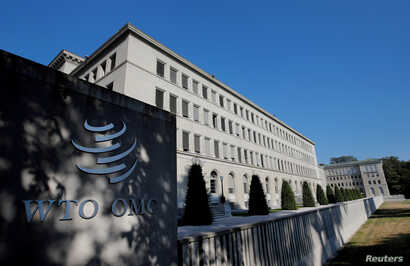 FILE PHOTO: The World Trade Organization (WTO) headquarters are pictured in Geneva, Switzerland, July 26, 2018.  REUTERS/Denis…