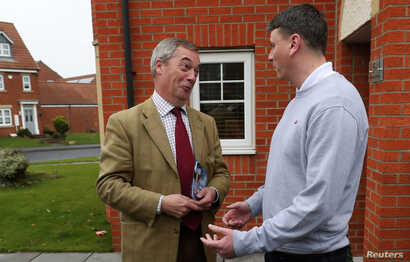 Leader of the Brexit Party Nigel Farage