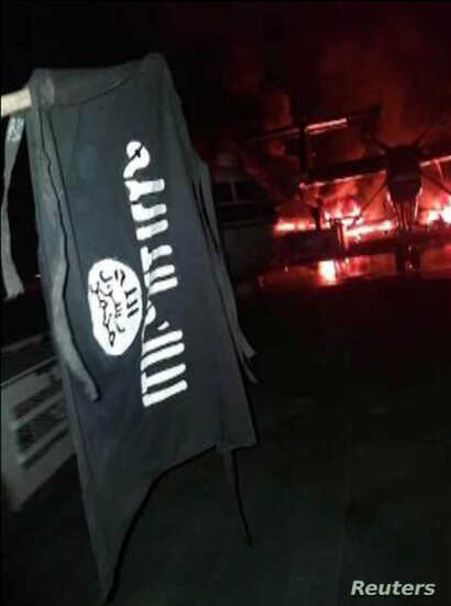 An image distributed by al Shabaab after the attack on a military base in Kenya shows Somalia's al Shabaab militant group's…