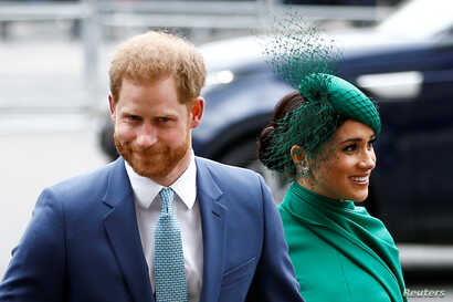 FILE PHOTO: Britain's Prince Harry and Meghan, Duchess of Sussex, arrive for the annual Commonwealth Service at Westminster…