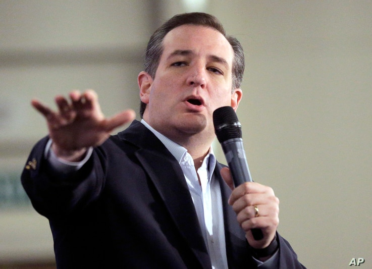 Republican presidential candidate, Sen. Ted Cruz, R-Texas, speaks at a rally in Irvine, California, April 11, 2016.