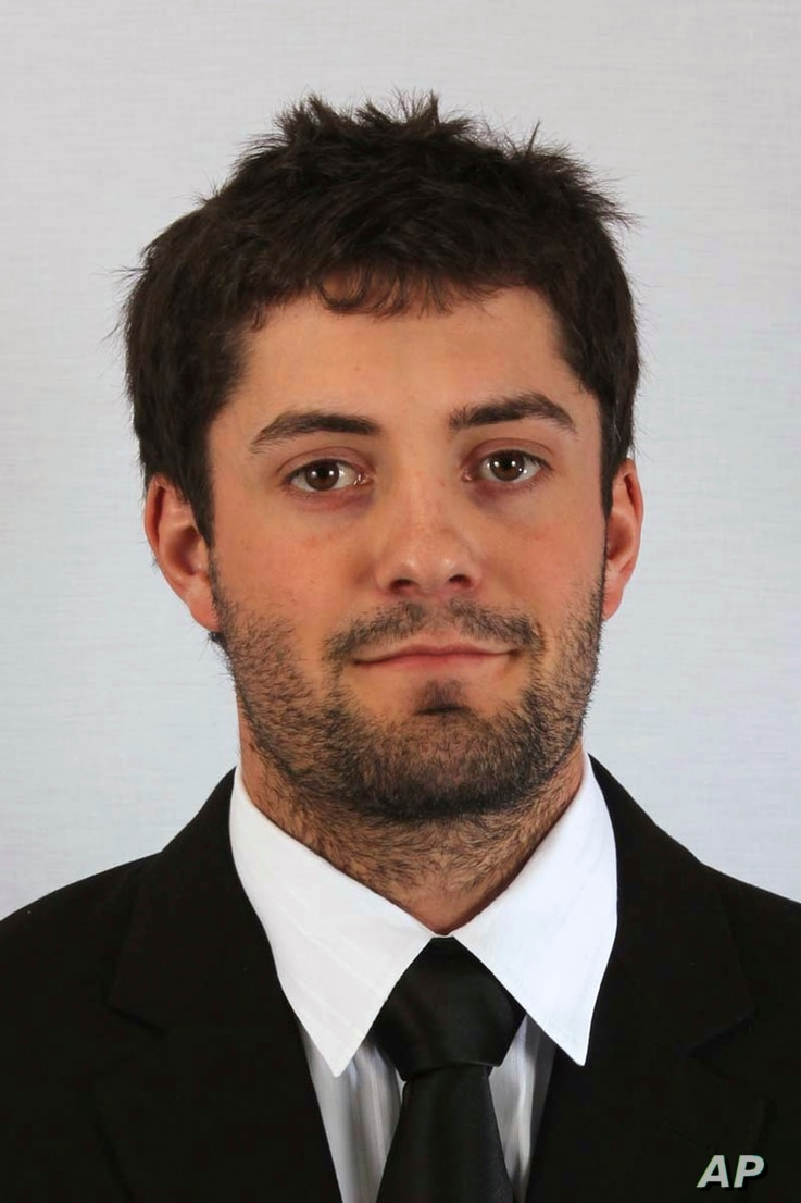 This photo provided by East Central University shows Christopher Lane, an Australian who was on a baseball scholarship at East Central University in Ada, Oklahoma.