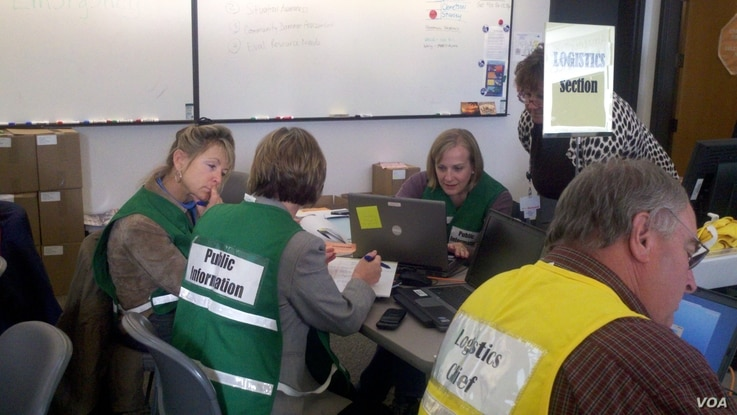 Several positions at the emergency operations center in Vancouver, Wash. are now tasked with engaging with social media during a natural disaster.(Courtesy Cheryl Bledsoe, CRESA)