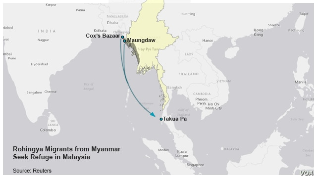 Migrants leave Myanmar for Malaysia