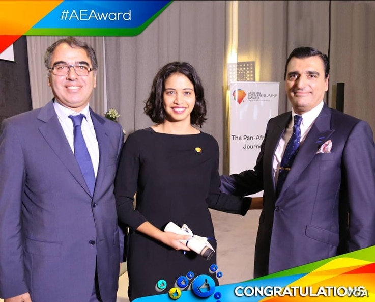 Khadija Hamouchi wins the African Entrepreneurs Award in November 2015 with her idea to build a social-educational app, called 'Sejaal'.