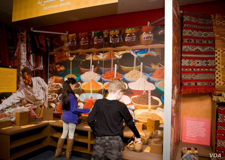 """Some people might learn through their senses, and therefore they can smell the spices or smell the fruits,"" says Lizzy Martin, director of exhibit development and museum planning at the Children's Museum of Manhattan, referring to the exhibit on M..."