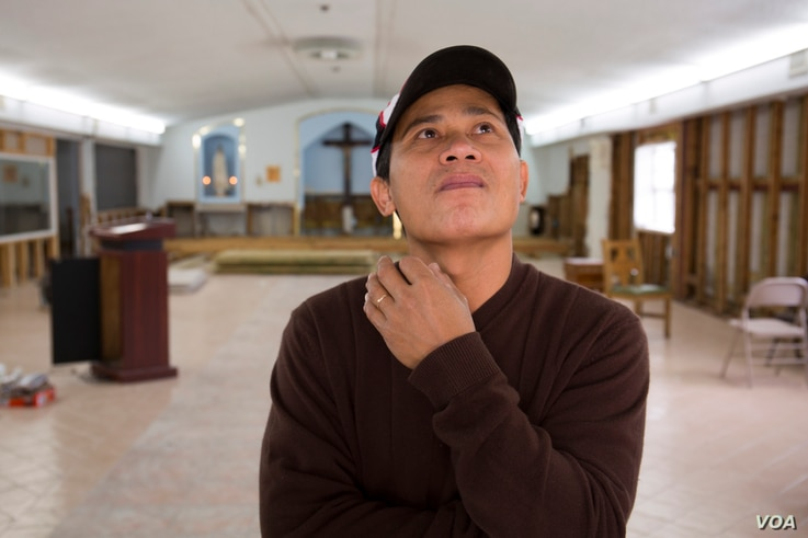 Victor Ngo typically organizes events in Fatima Village's church. But for now, his attention is turned to completing reconstruction on the altar and securing donations to replace its 30 ruined benches.