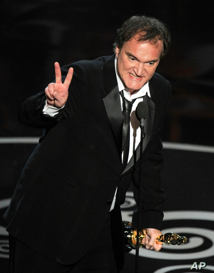 Quentin Tarantino accepts the award for best writing - original screenplay for