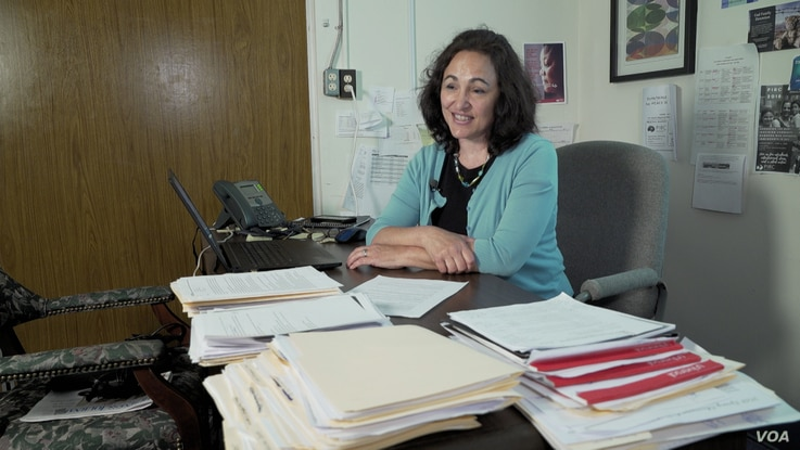 Mary Studzinski, executive director of the Pennsylvania Immigration Center, at her office in York, Pennsylvania.