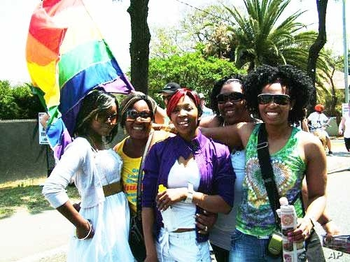 "Nzioka says Kenya's gays and lesbians are a tight community, finding ""solidarity"" with one another while many are ostracized by their families"