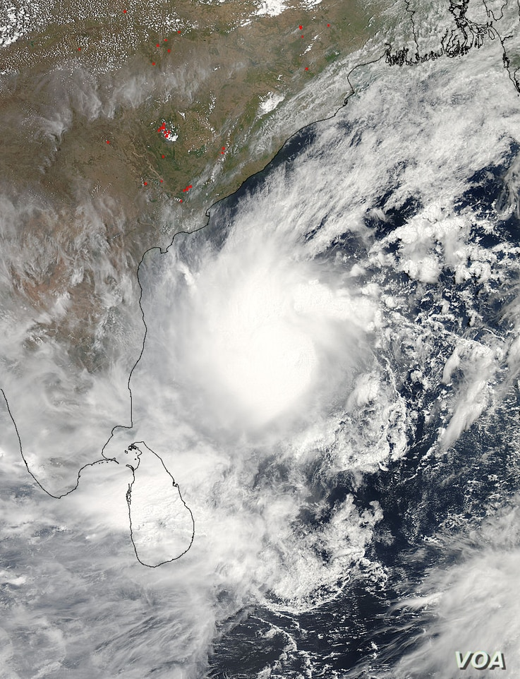 NASA's Aqua satellite captured this visible image of a well-rounded Tropical Cyclone Mahasen in the Northern Indian Ocean on May 15 at 07:55 UTC. (Credit: NASA Goddard MODIS Rapid Response Team)