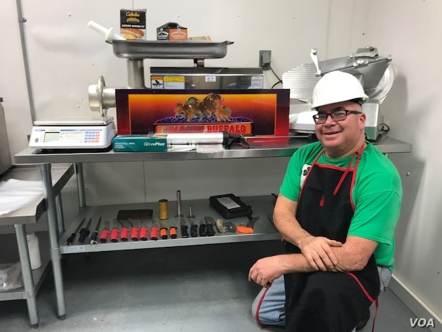 """Photo shows Charles """"Bamm"""" Brewer, Oglala Lakota, who heads up the Charging Buffalo Meat House on the Pine Ridge Indian Reservation in South Dakota. Brewer is on a mission to help Lakota return to a more traditional--and healthy--diet. Courtesy:  One..."""