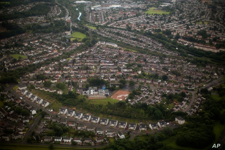 A general view shows part of the outskirt of Glasgow, Scotland, July 1, 2016.