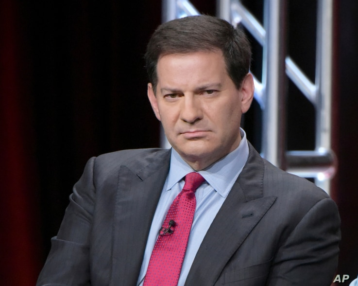 """FILE - Mark Halperin participates in a panel discussion during the Showtime Critics Association summer press tour in Beverly Hills, Calif., Aug. 11, 2016. The veteran journalist is apologizing for what he termed """"inappropriate"""" behavior after five wo..."""