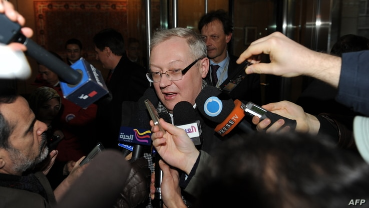 Russian deputy foreign minister Sergei Ryabkov in New York, January 16, 2010 file photo.
