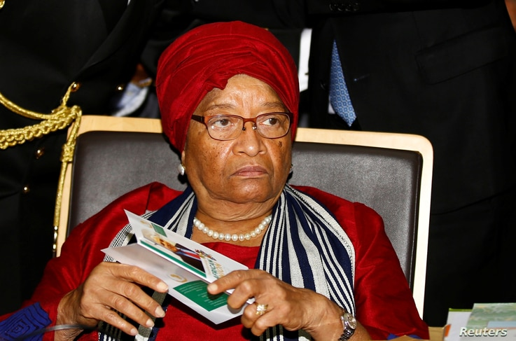 Liberia's President Ellen Johnson Sirleaf attends the 28th Ordinary Session of the Assembly of the Heads of State and the Government of the African Union in Ethiopia's capital Addis Ababa, Jan. 30, 2017.