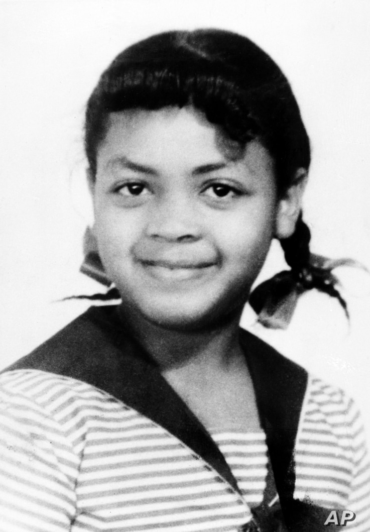 Linda Brown Smith, 9, is shown in this 1952 photo. Smith was a 3rd grader when her father started a class-action suit in 1951 of the Brown v. Board of Education of Topeka, Kan., which