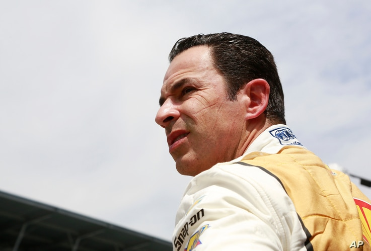 Helio Castroneves, of Brazil, watches during the final practice session for the Indianapolis 500 auto race at Indianapolis Motor Speedway, May 26, 2017.