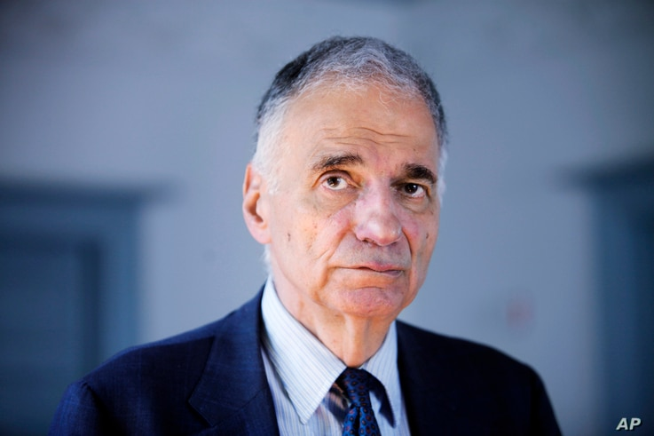 FILE - Former independent presidential candidate Ralph Nader poses in Washington, Aug. 20, 2009.