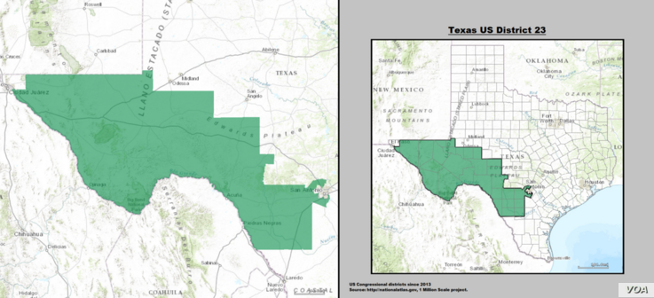 Map: The Texas 23rd congressional district.