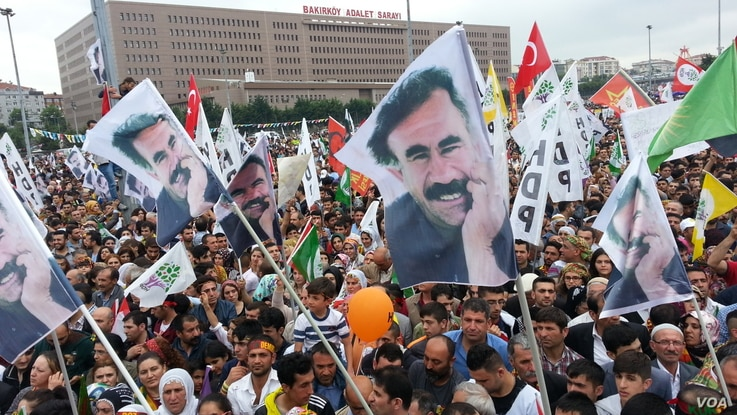 Supporters of the Kurdish-backed HDP party take to the streets of Istanbul to celebrate the news that the HDP will, for first time ever, have seats in parliament.