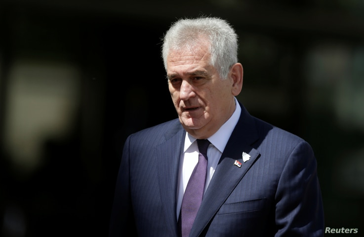 Serbia's President Tomislav Nikolic arrives for a meeting, in Sarajevo, Bosnia and Herzegovina, May 29, 2016.