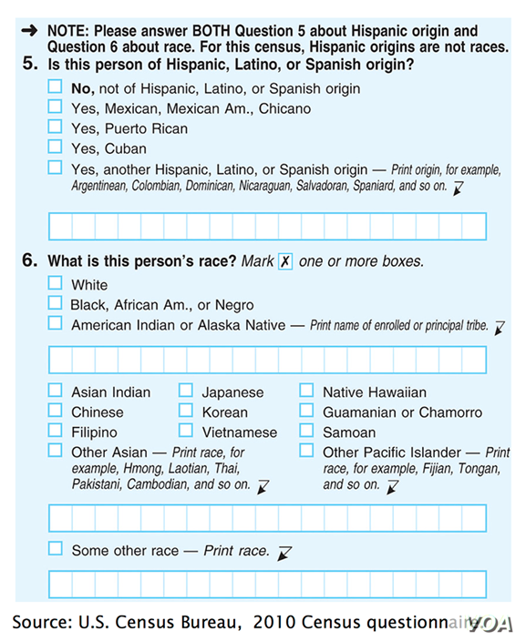 Graphic 1 for Census story - Question about Hispanic origin