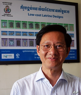 Dr Chea Samnang heads the department of rural health at the Ministry of Rural Development. The government wants 30 percent of rural households to have access to a latrine by 2015, and 100 percent by 2025. Dr Chea says that target is currently on trac...