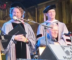 Doc Watson receives his honorary doctorate during Merelfest 2010 in Wilkesboro, North Carolina