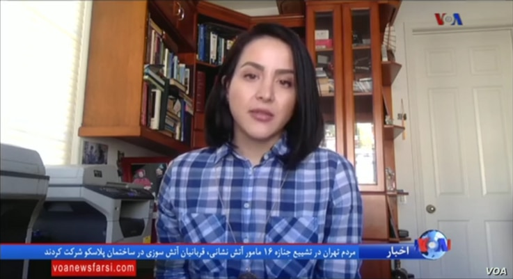 28-year-old Iranian student Neda Daemi, who was detained on arrival at Los Angeles airport on Saturday, speaks to VOA Persian's LateNews show, Jan. 30, 2017.