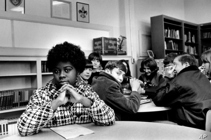 FILE - Linda Brown Smith, date and location unknown. Smith was a third grader when her father started a class-action suit in 1951 of the Brown v. Board of Education of Topeka, Kansas, which led to the U.S. Supreme Court's 1954 landmark decision again
