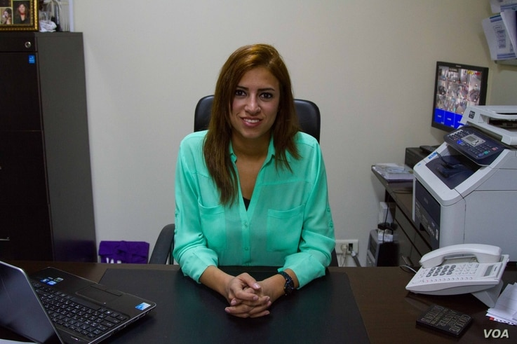 Sarah Al-Charif is director for Ruwwad Al Tanmeya Lebanon, which first launched in Lebanon in 2012, and focuses on helping the disadvantaged, December 2014. (J. Owens / VOA)