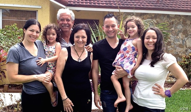 Carlos Guillermo Smith, third from the right, with his family.