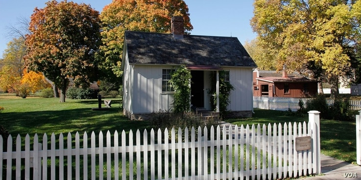Herbert Hoover, America's 31st president, was born in this two-room cottage in West Branch, Iowa on August 10, 1874. The blacksmith shop is also part of the historic site within the National Park Service.