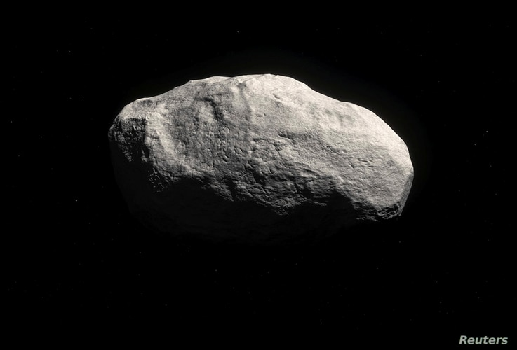 """The new comet, known as C/2014 S3, also-called """"Manx"""" comet, which was discovered in 2014 by the Panoramic Survey Telescope and Rapid Response System, or Pan-STARRS, is shown in this artist rendering released April 29, 2016. (Courtesy: M. Kornmesser/..."""