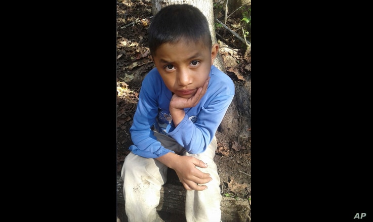 Catarina Gomez provided this photo of her half-brother Felipe Gomez Alonzo, 8, near her home in Yalambojoch, Guatemala, Dec. 12, 2018. The 8-year-old boy died in U.S. custody at a New Mexico hospital on Christmas Eve after suffering a cough, vomiting...