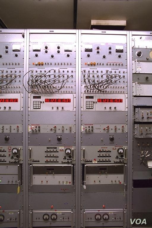 "A cesium ""atomic clock"" at WWV in Colorado. One second is defined as the period of the transition between two energy levels of the ground state of the Cesium-133 atom, making cesium oscillators the primary standard for time and frequency measurem..."