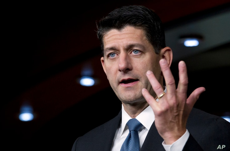 House Speaker Paul Ryan, R-Wis. speaks during his weekly news conference on Capitol Hill, Sept. 6, 2018, in Washington. Ryan says whoever wrote an anonymous New York Times opinion column claiming officials in President Donald Trump's administration a...