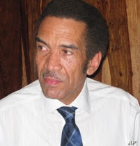 President Ian Khama is accused of resenting dissenting views within the ruling party.