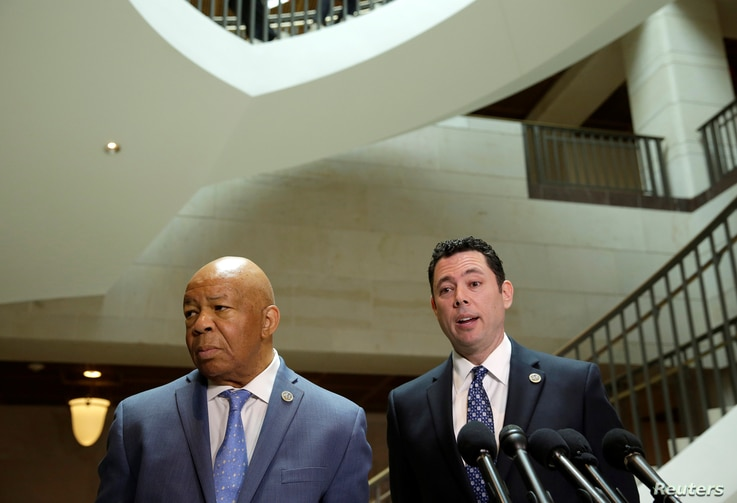 Chairman of the House Oversight and Government Reform Committee Jason Chaffetz (R) (R-UT) and Rep. Elijah Cummings (D-MD) speak about the failure of former National Security Adviser Michael Flynn to disclose payments for a 2015 speech in Moscow.
