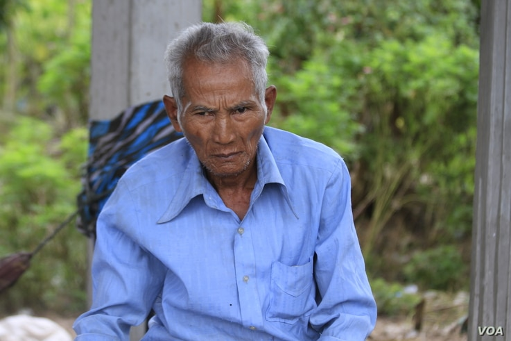 Duch Thuon, 66, a villager in Taches commune, said he registered as a CPP member after being approached by local officials and feeling he had no choice, Nov. 8, 2017.