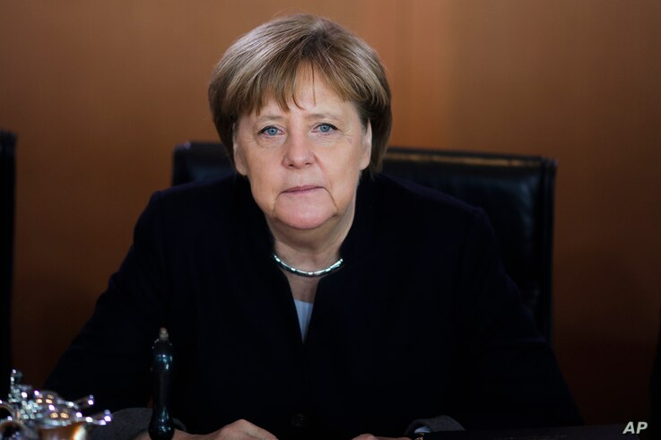 German Chancellor Angela Merkel attends the weekly cabinet meeting of the German government at the chancellery in Berlin, Feb. 15, 2017.
