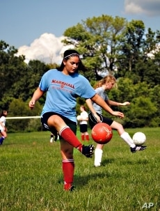 Soccer player Carma Khatib,16, fasts occasionally, but not on days when she has sports activities.