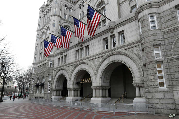 The Trump International Hotel at 1100 Pennsylvania Avenue NW, Dec. 21, 2016 in Washington.